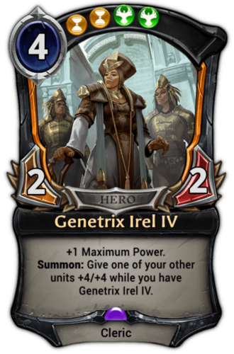 Genetrix Irel IV card