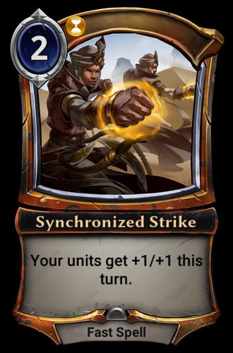 Synchronized Strike card