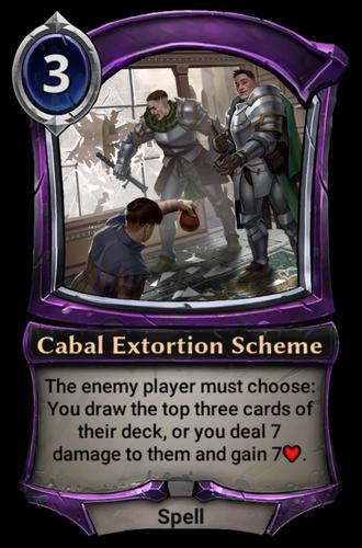 Cabal Extortion Scheme card