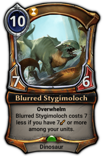 Blurred Stygimoloch card
