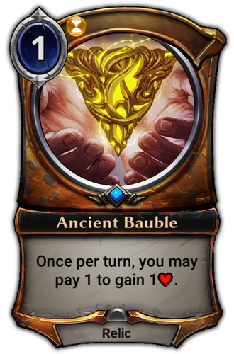 Ancient Bauble card