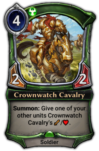 Crownwatch Cavalry card
