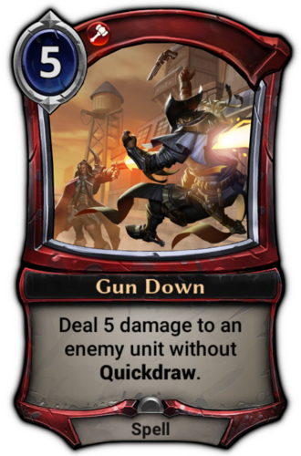 Gun Down card