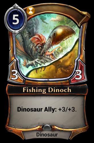 Fishing Dinoch card