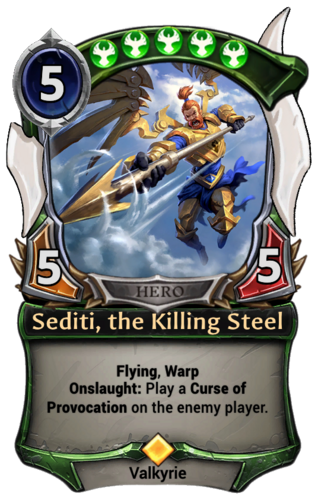 Sediti, the Killing Steel card