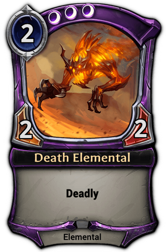 Death Elemental card