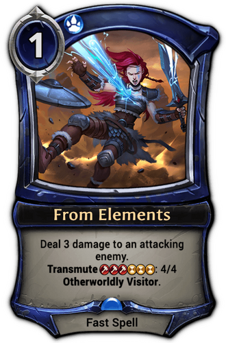 From Elements card