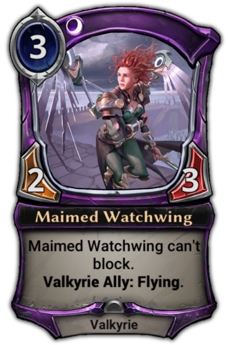 Maimed Watchwing card