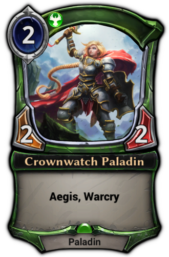 Crownwatch Paladin card