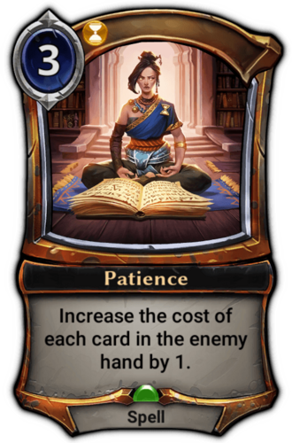 Patience card