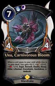 Uxu, Carnivorous Bloom