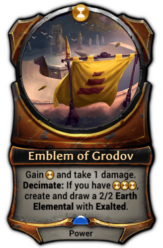 Emblem of Grodov card