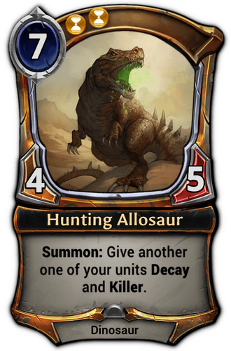 Hunting Allosaur card