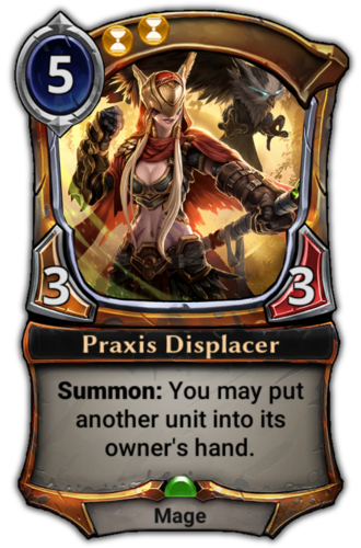 Praxis Displacer card