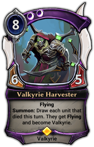 Valkyrie Harvester card