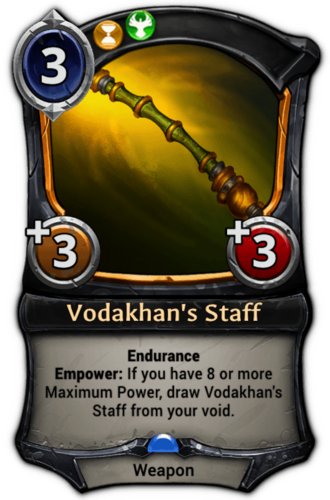 Vodakhan's Staff card