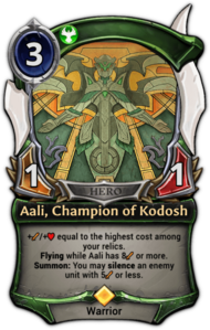 Aali, Champion of Kodosh