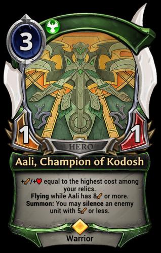 Aali, Champion of Kodosh card