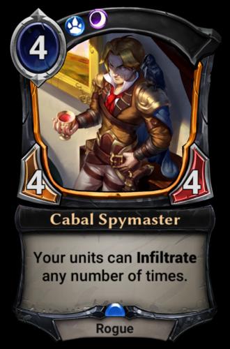 Cabal Spymaster card