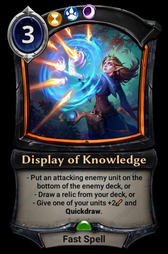 Display of Knowledge card