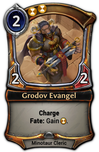 Grodov Evangel card