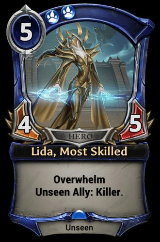 Lida, Most Skilled card