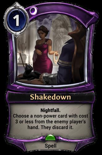 Shakedown card