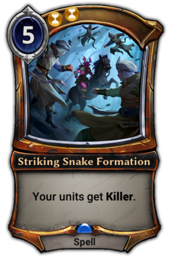 Striking Snake Formation card