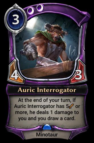 Auric Interrogator card