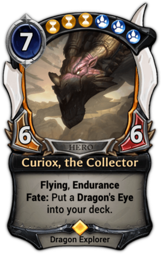Curiox, the Collector card