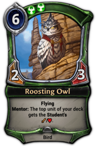 Patch 1.35 version of Roosting Owl.