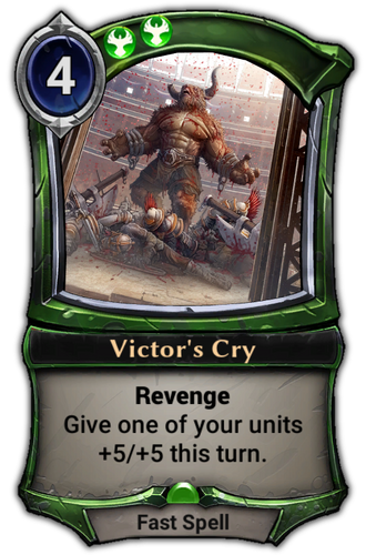Victor's Cry card