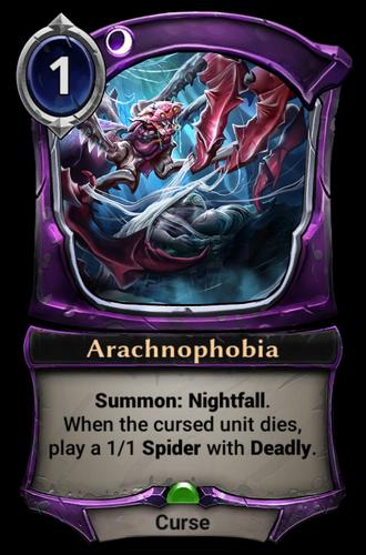 Arachnophobia card