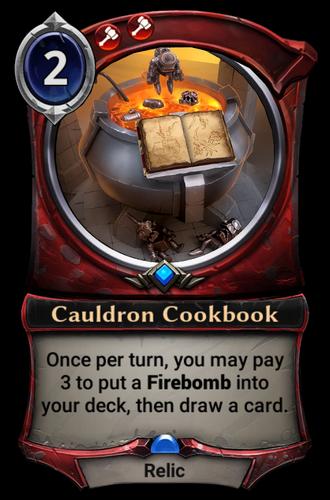 Cauldron Cookbook card