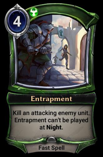 Entrapment card