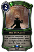 Bar the Gates