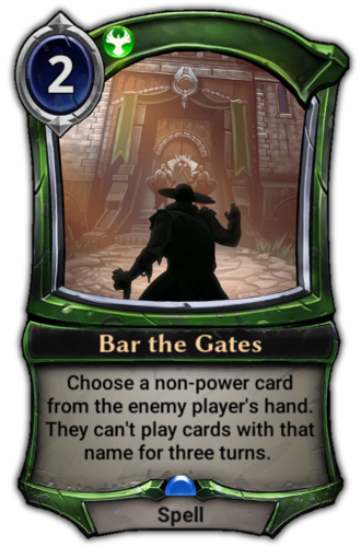 Bar the Gates card
