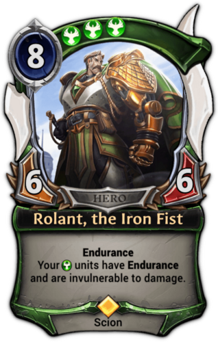 Rolant, the Iron Fist card