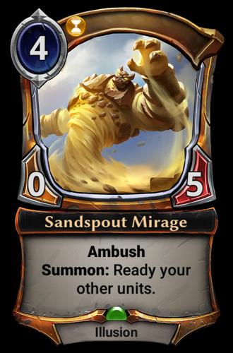 Sandspout Mirage card