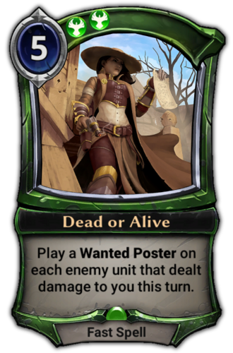 Dead or Alive card