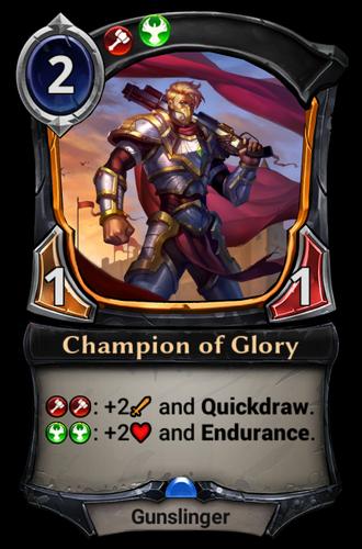Champion of Glory card