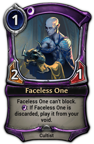 Faceless One card