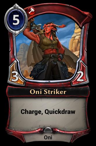 Oni Striker card