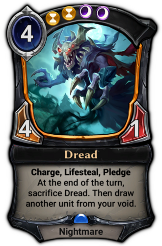 Dread card
