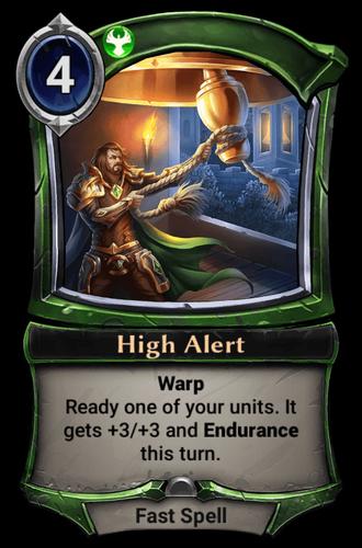 High Alert card