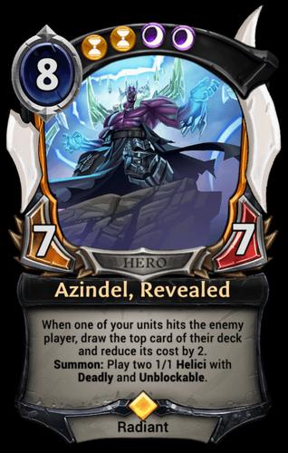 Azindel, Revealed card