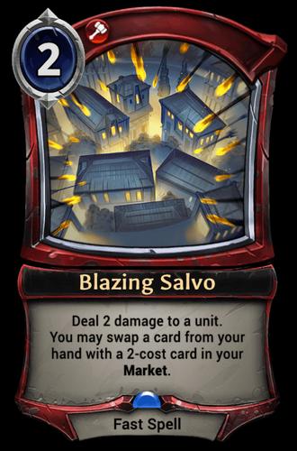Blazing Salvo card