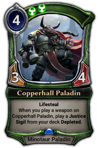 Copperhall Paladin card
