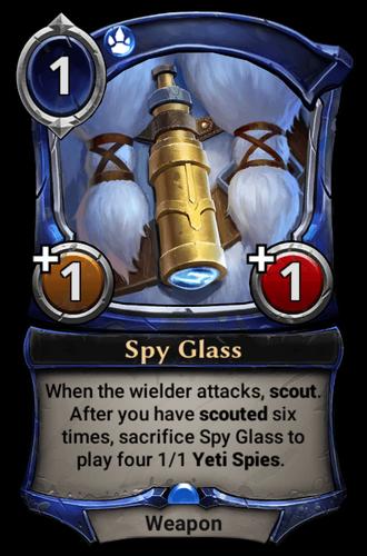Spy Glass card
