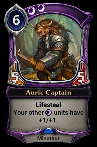 Auric Captain card